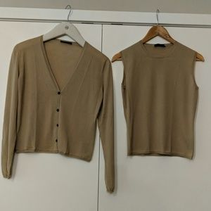 Prada Cashmere sweater set - Camel